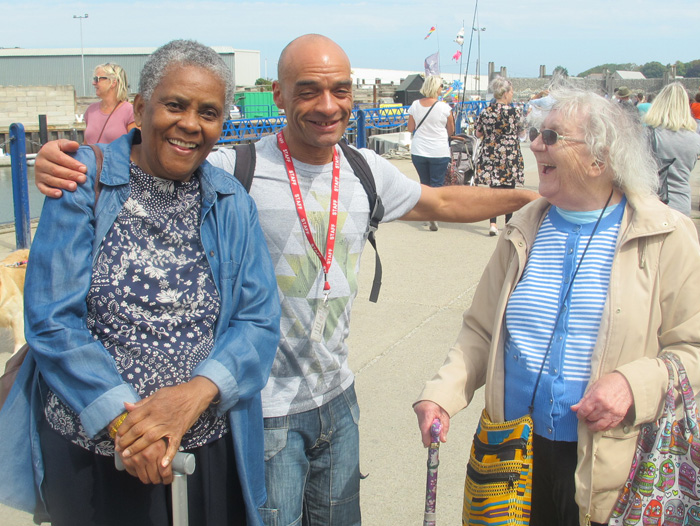 Image of 2 women and a member of Masbro Staff at Elders Summer Seaside Outing 2018