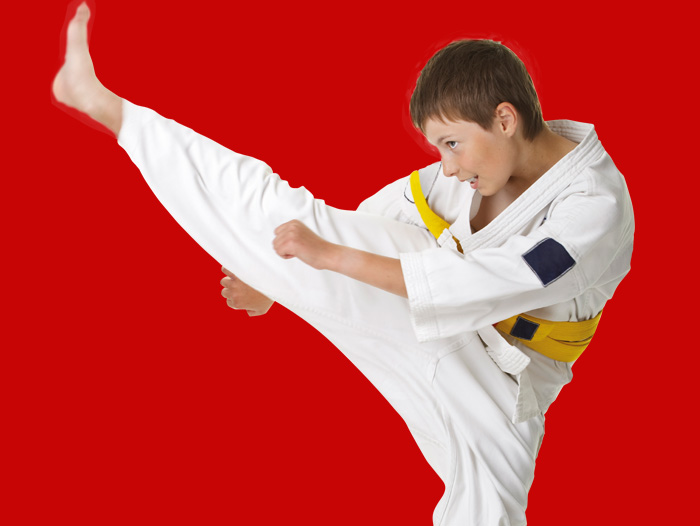 Picture of young boy practising aikido