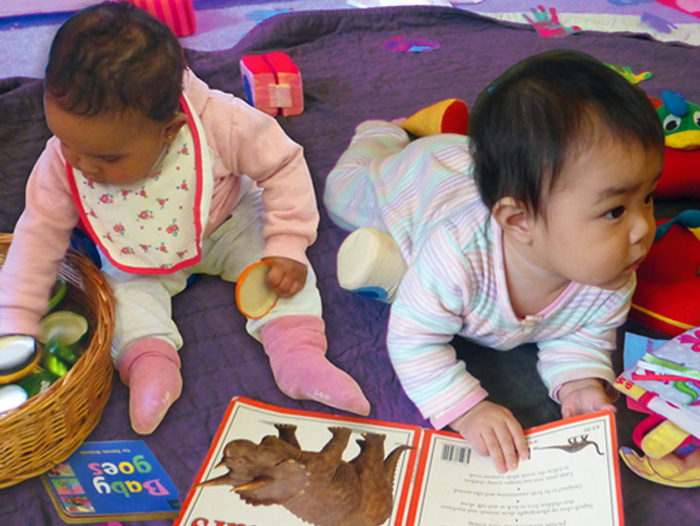 Picture of two babies at Masbro Creche