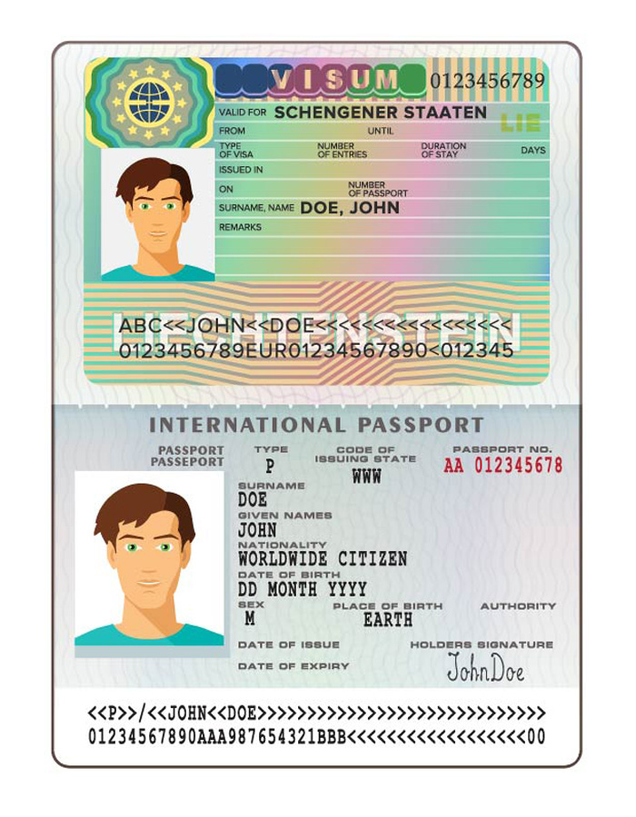Illustration of passport
