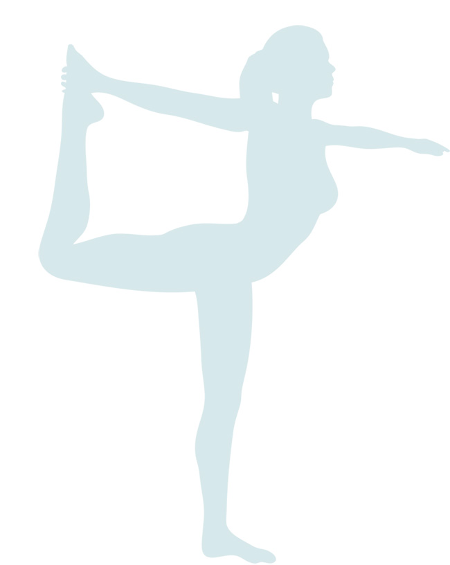 silhouette of lady in yoga pose
