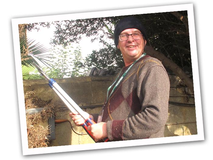 Volunteer gardener at Masbro Centre