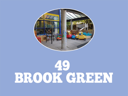 Brook Green Community Centre with text saying 49 Brook Green