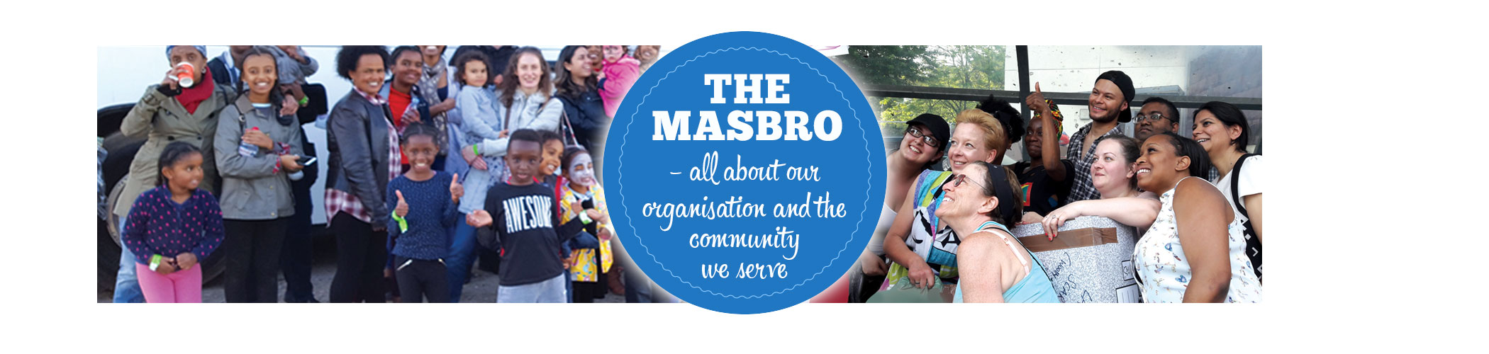 Masbro About Us page iphone banner