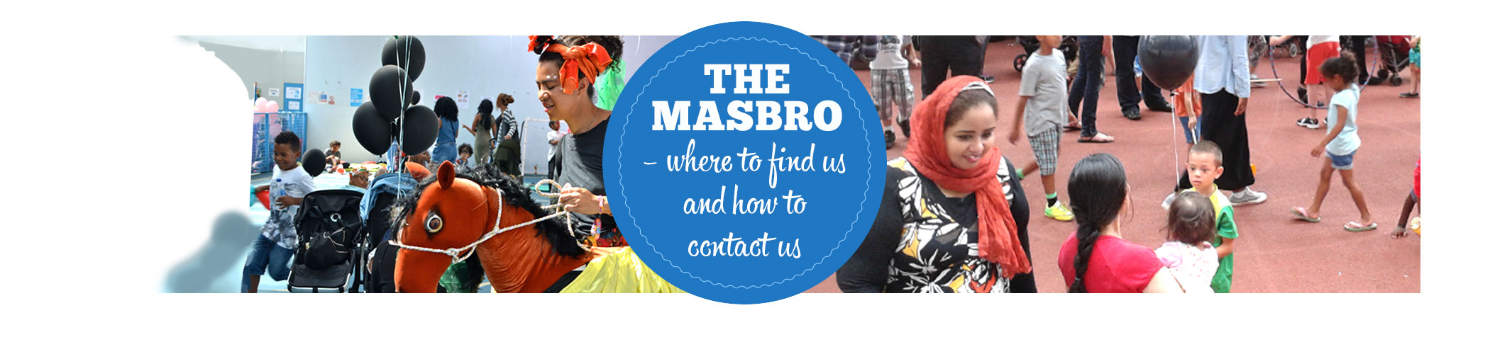 Masbro Contact page iphone banner
