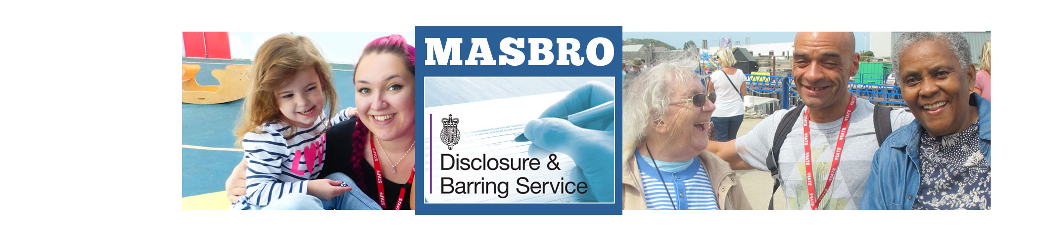 Masbro Disclsoure & Barring Service page iphone banner
