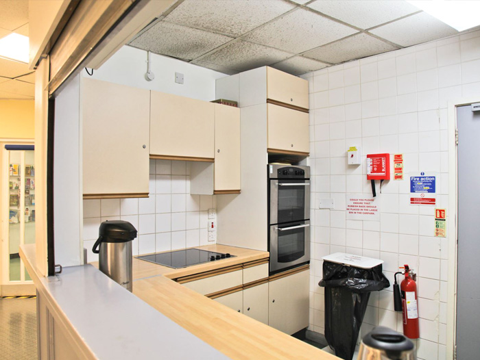 Picture of kitchen for Edward Woods Room Hire page