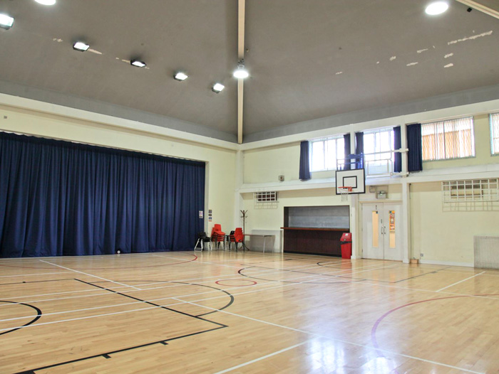 Picture of sports/main hall for Edward Woods Room Hire page