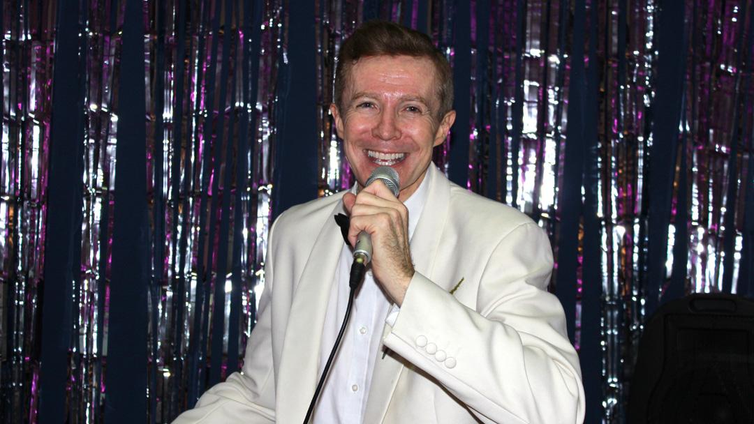 David Karl singing at Edward Woods Christmas Party 2017