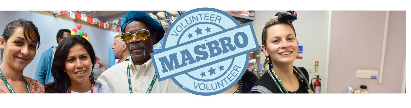 Masbro Volunteer page iphone banner