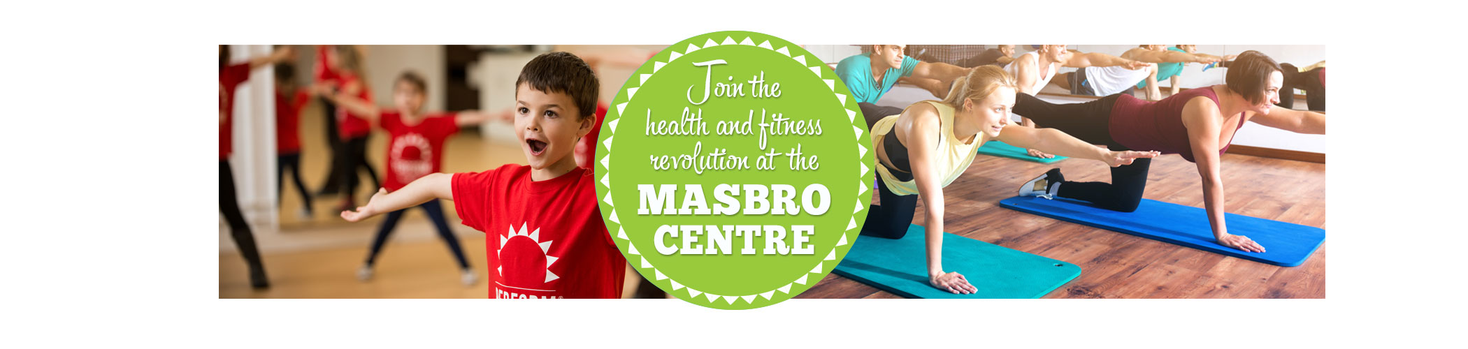 Masbro Health and Fitness page iphone banner