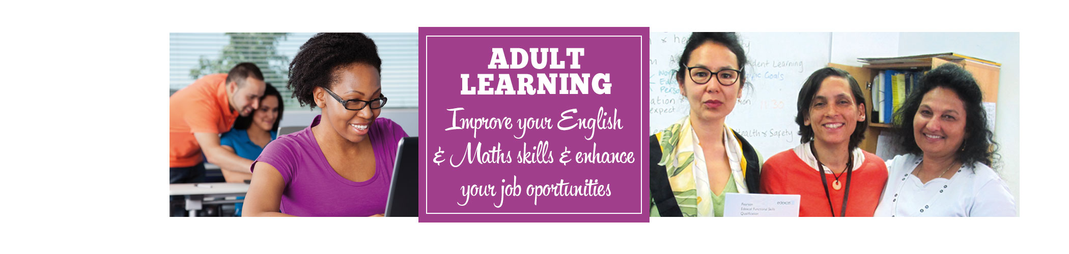 Adult Learning page iphone banner