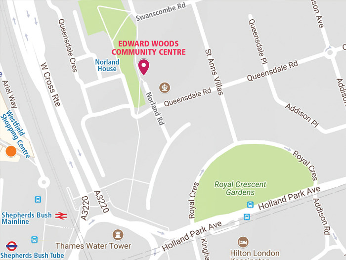Map of Edward Woods Community Centre