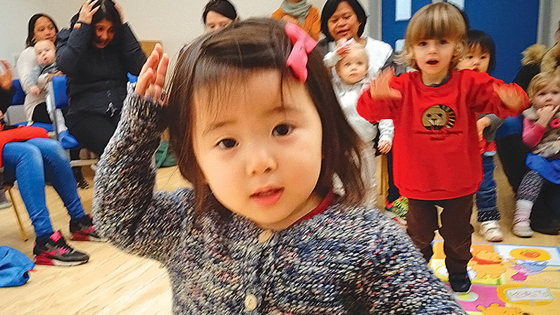 Image of girl at Masbro Children's Centre