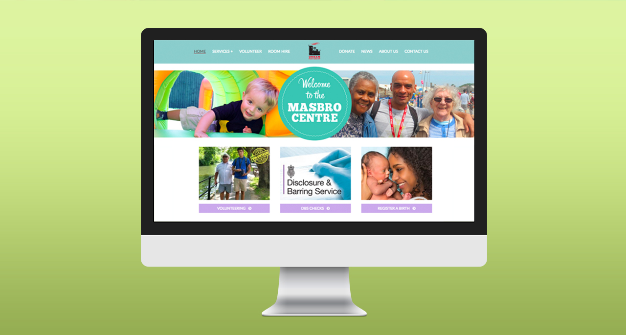 New Masbro Website displayed on imac