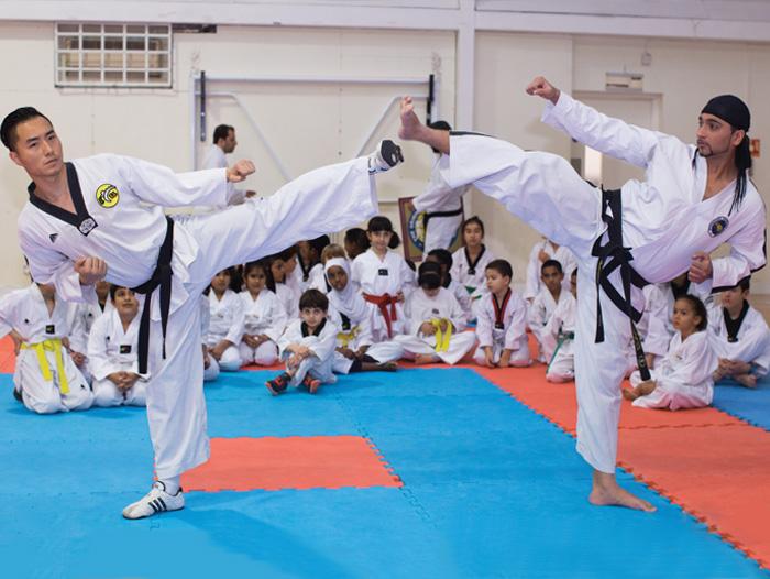 Edward Woods - taekwando class